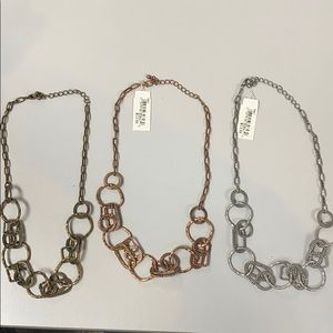 Set of three necklaces - never worn